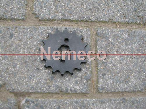 *Tandwiel (voor) 15 tands type 420 - 17mm as